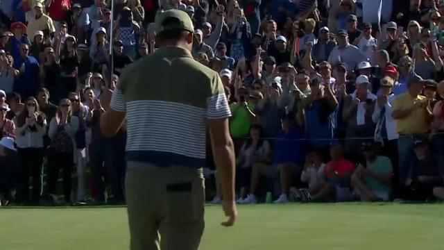 Rickie Fowler sinks lengthy birdie putt at Waste Management