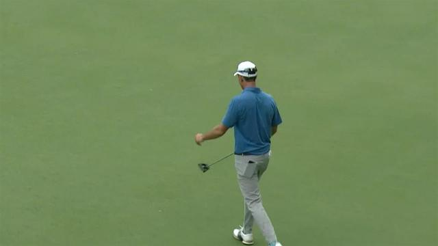 Martin Trainer sinks birdie putt from 55 feet at The Greenbrier
