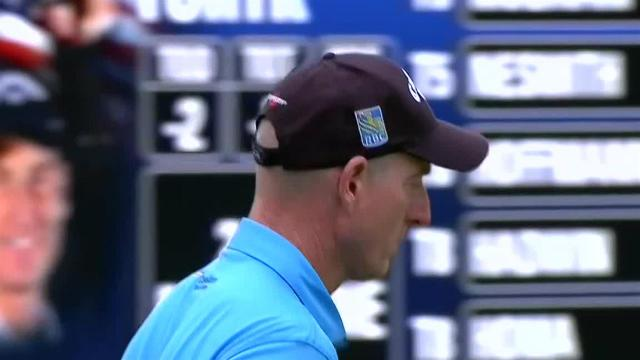 Jim Furyk finds the cup for birdie on No. 18 at Safeway Open