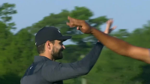 Kyle Stanley sinks 33-footer for birdie at Zurich Classic