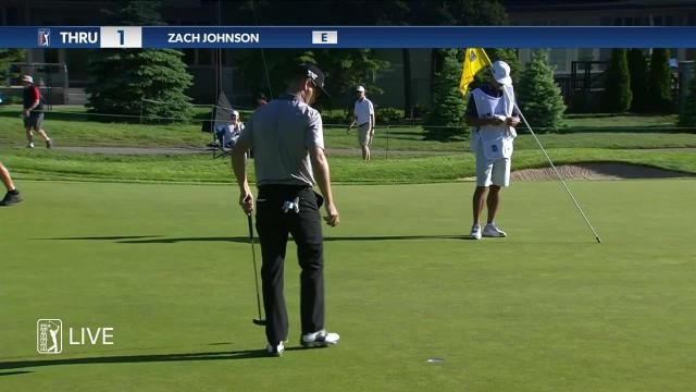 Zach Johnson's approach to 3 feet leads to birdie at RBC Canadian
