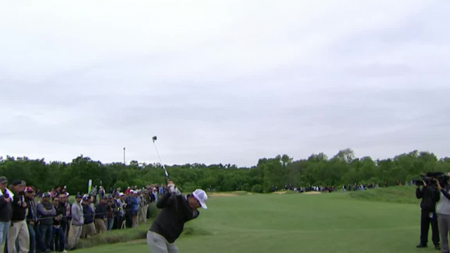 Ryan Palmer leads the field off the tee at AT&T Byron Nelson