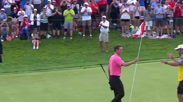Webb Simpson chips in for closing birdie at RBC Canadian