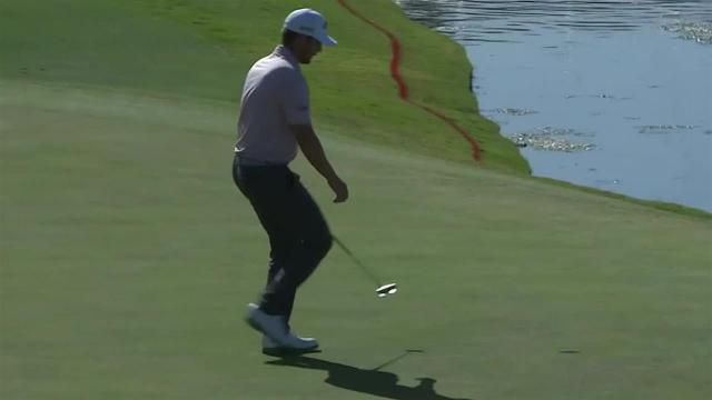 Chris Stroud rolls in 15-footer for birdie at Shriners