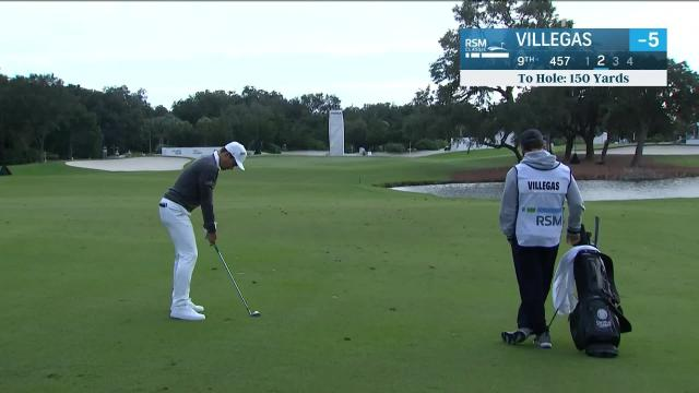 Camilo Villegas birdies No. 9 in Round 1 at The RSM Classic