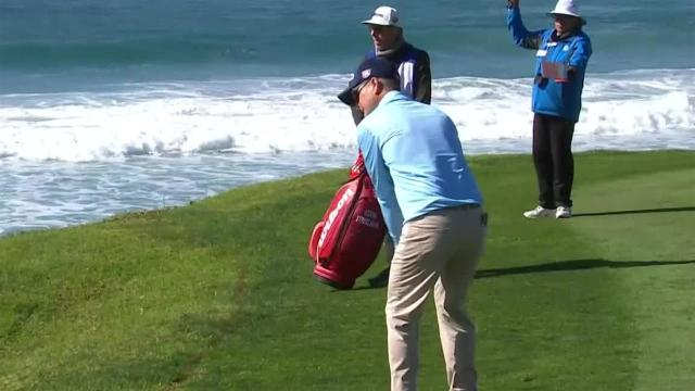 Kevin Streelman nearly holes out from 100 yards at AT&T Pebble Beach