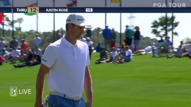 Justin Rose jars 20-footer for birdie at THE PLAYERS