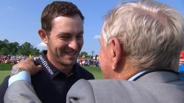 Patrick Cantlay shoots final-round 8-under to win at the Memorial