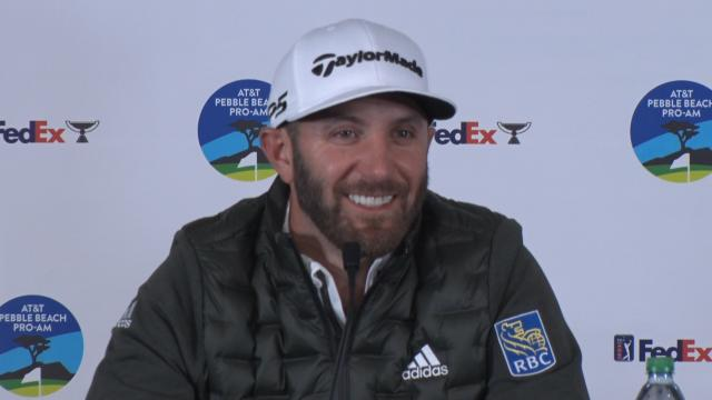 Dustin Johnson on his game before the AT&T Pebble Beach