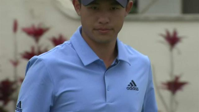 Collin Morikawa drains 30-foot birdie putt at the Sony Open
