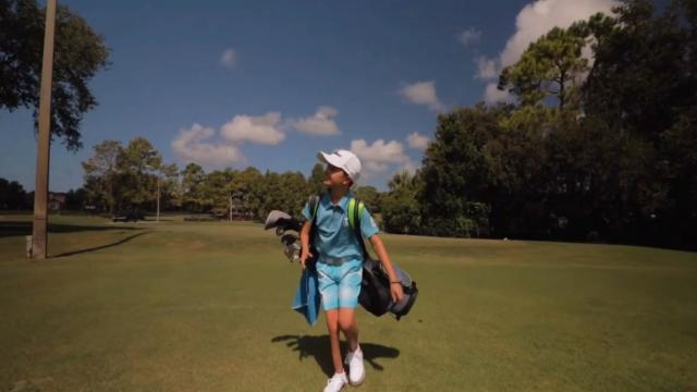 Players and Valspar Championship provide shoes to young aspiring golfer