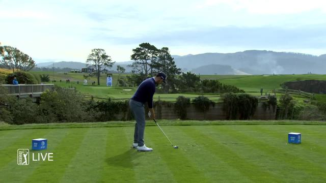 Patrick Cantlay birdies No. 5 in Round 1 at AT&T Pebble Beach