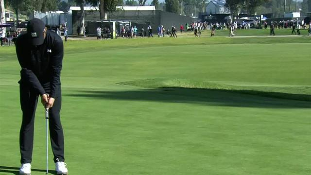 Jordan Spieth birdies No. 14 at Genesis