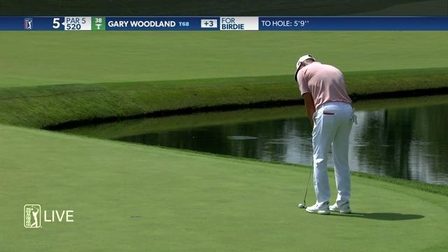Gary Woodland makes birdie on No. 5 in Round 1 at Workday