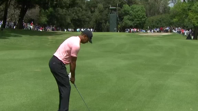 Tiger Woods' solid approach yields birdie putt at WGC-Mexico