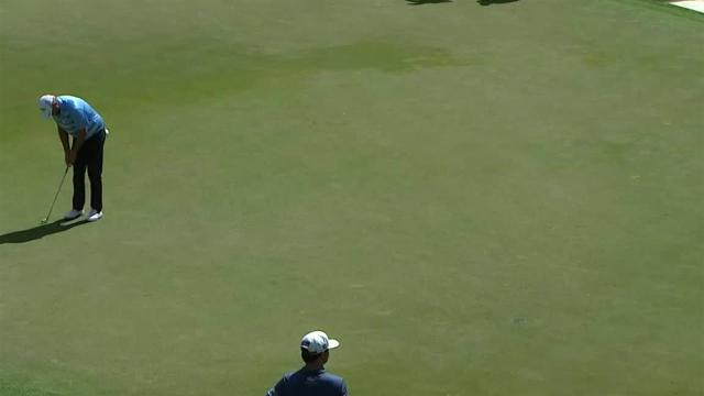 Marc Leishman's solid 21-foot eagle putt at THE PLAYERS