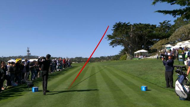 Leaders in driving from the AT&T Pebble Beach Pro-Am