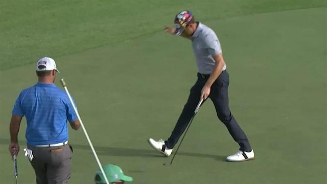 Scott Harrington's approach to 8 feet yields birdie at the Sony Open