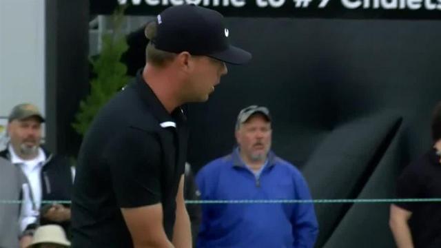 Bryson DeChambeau sinks 25-footer for birdie at Arnold Palmer