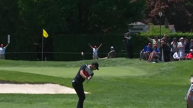Rory McIlroy chips it close to set up birdie at RBC Canadian
