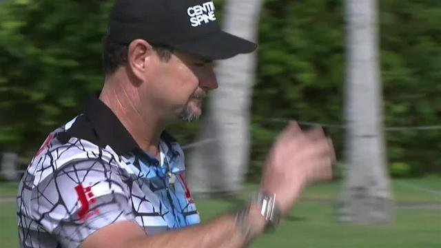 Rory Sabbatini birdies No. 16 at the Sony Open