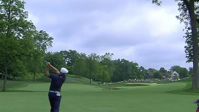 Bryson DeChambeau's useful second sets up birdie at the Memorial
