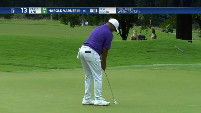 Harold Varner III birdies No. 13 in Round 4 at Wyndham