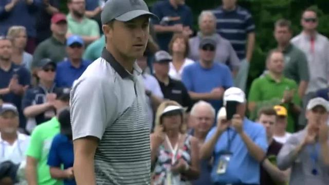 Jordan Spieth's good approach leads to birdie at the Memorial