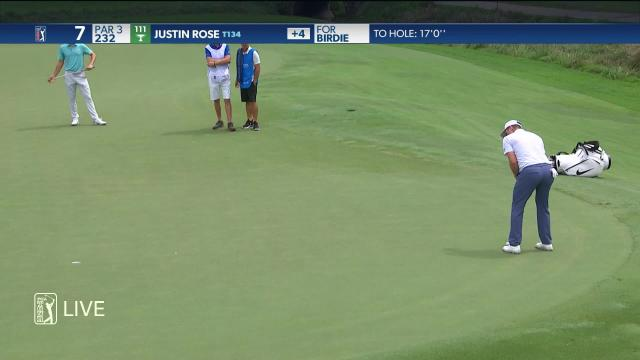 Justin Rose makes birdie on No. 7 in Round 2 at Wyndham