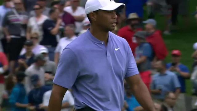 Tiger Woods sticks tee shot to set up birdie at the Memorial