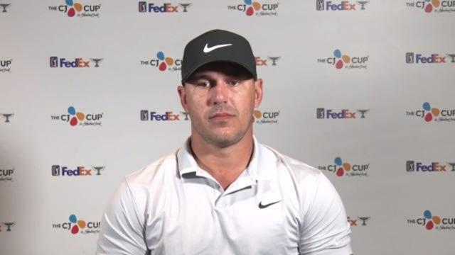 Brooks Koepka on returning from injury prior to THE CJ CUP