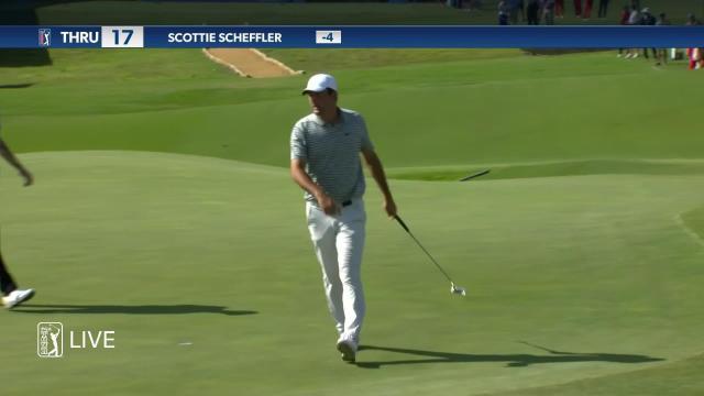PGA TOUR | Scottie Scheffler dials in tee shot to set up birdie at AT&T Byron Nelson