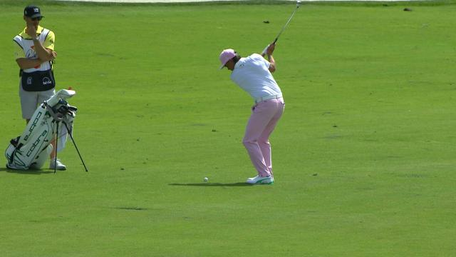 Today's Top Plays: Rickie Fowler's eagle hole out is the Shot of the Day