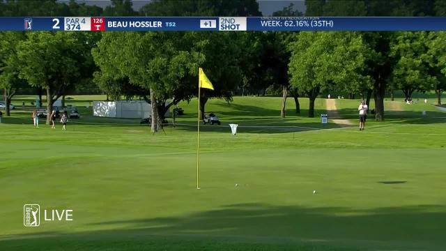 Beau Hossler uses nice approach to set up birdie at Charles Schwab