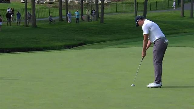 Adam Schenk drains 19-footer for birdie at the Memorial