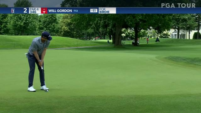 Will Gordon makes birdie on No. 2 in Round 4 at Travelers