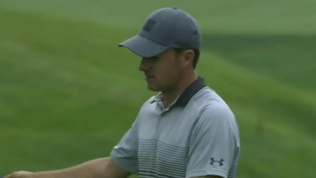 Jordan Spieth's chip-in birdie at the Memorial