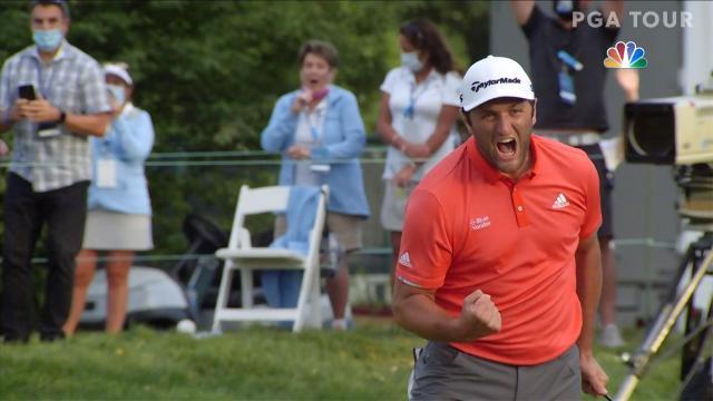 PGA TOUR   Jon Rahm's 66-foot birdie putt to win at BMW