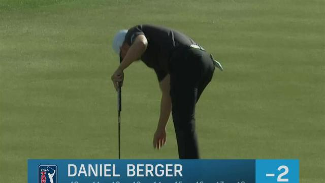 Daniel Berger sinks 23-footer for birdie at Waste Management