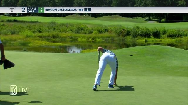 Bryson DeChambeau makes birdie on No. 2 in Round 1 at THE NORTHERN TRUST