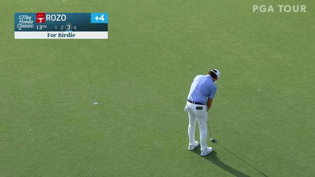 Marcelo Rozo makes birdie on No. 13 in Round 1 at Honda