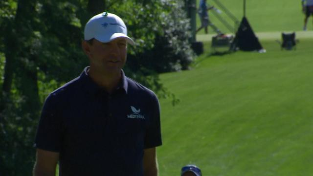 Lucas Glover's hole-out chip shot at Wells Fargo