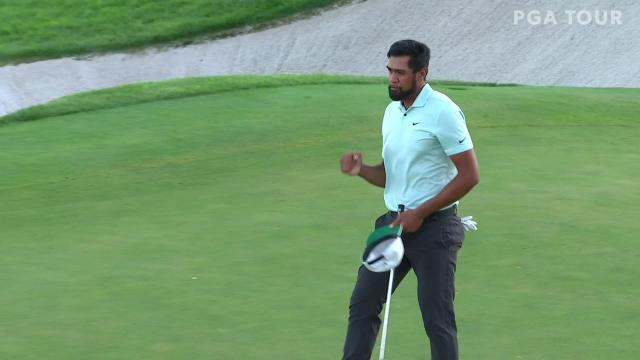 Tony Finau's par on first playoff hole seals win at THE NORTHERN TRUST