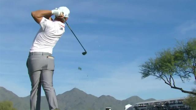 Xander Schauffele reaches in two to set up birdie at Waste Management