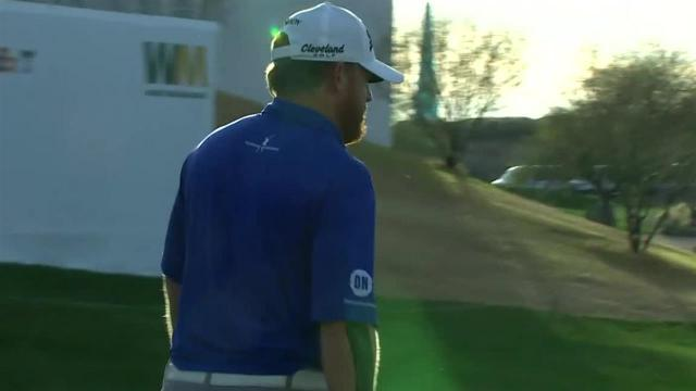 J.B. Holmes sinks birdie putt from off the green at Waste Management