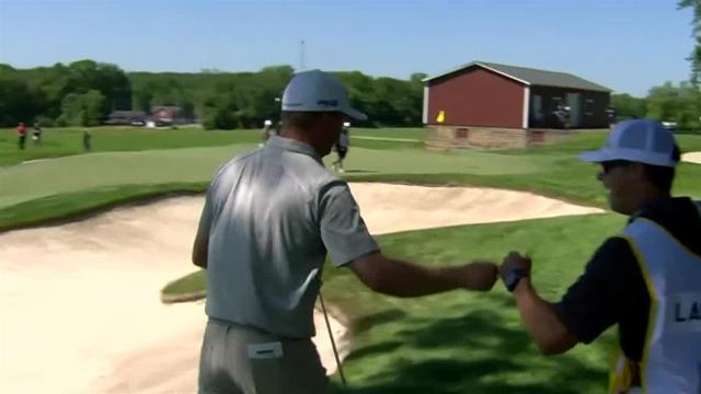 Nate Lashley holes out for eagle at John Deere