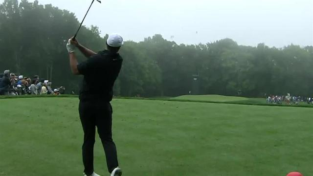 Brooks Koepka cards opening-round birdie on No. 11 at Travelers
