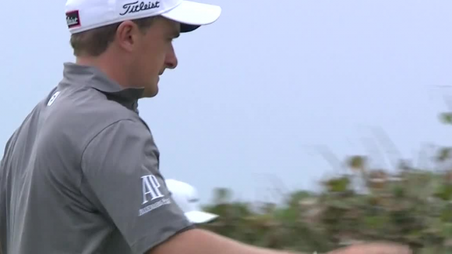 Paul Dunne makes birdie from across the green at Corales Puntacana