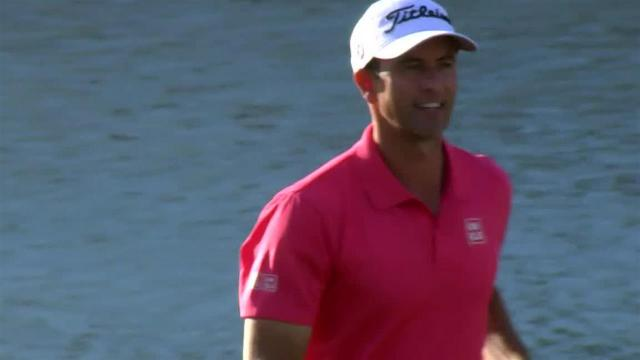 Adam Scott's 29-foot birdie putt at THE PLAYERS