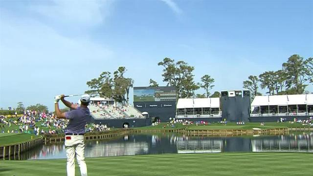 Harris English hits tight tee shot to set up birdie at THE PLAYERS